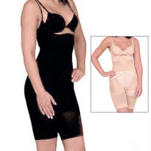 Women's Full Body Slimming Shaper with Strap Bodysuit Short Panties SS-W04 Black (S) Slinky Tube Mini Dress