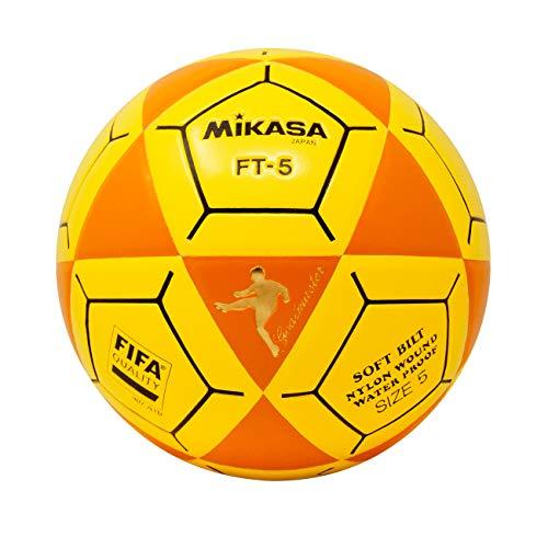 (Mikasa FT5 Goal Master Soccer Ball, Orange/Yellow, Size 5)