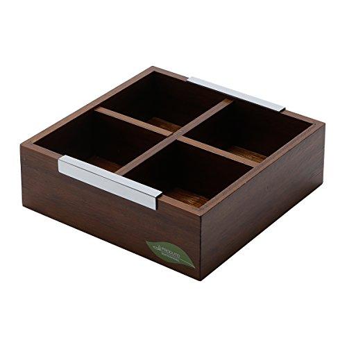 Wooden Tea Caddy (WOODART Wooden Tea Box with 4 compartments)