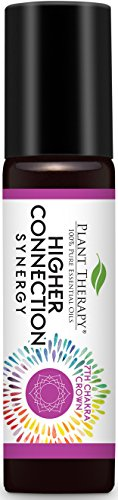 Plant Therapy Chakra 7 Higher Connection Synergy (Crown Chakra) Pre-Diluted Roll-On 10 mL (1/3 oz) 100% Pure - Radiant Bracelet Set