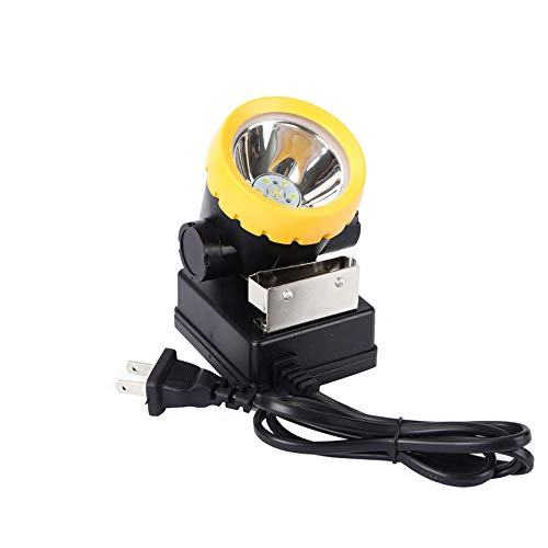 LED Mining Headlamp, Coal Miner Headlight Explosion Rroof Mining Light, Waterproof Saftety Cap Lamp BK2000 Rechargeable Coal mine Lamp Flashlight for Safety Helmet, Hard Hat, Hunting, Fishings -