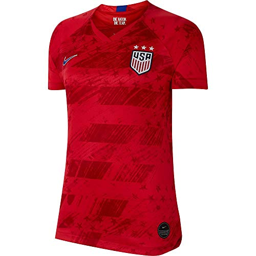 (USA 2019 Womens Away Jersey (Red, WS))