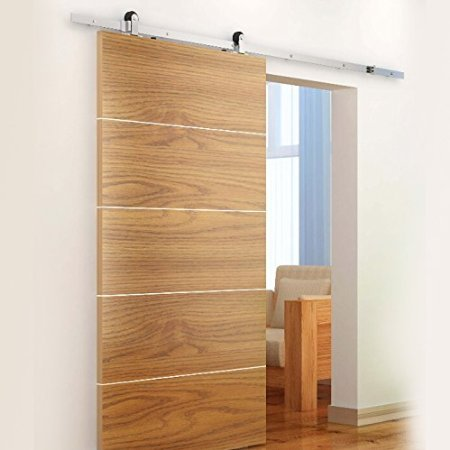 BD TSS Satin Nickel Brushed Stainless Steel Sus304 Modern Barn Wood Sliding Door Hardware