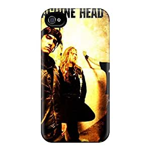 Hard Protect Phone Case For Iphone 4/4s (HxY1580xMcP) Allow Personal Design Trendy Machine Head Band Pictures