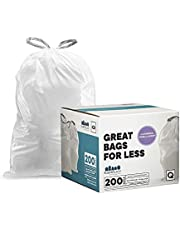 """Plasticplace White Drawstring Lavender and Soft Vanilla Scented Garbage Can Liners │ Code Q Compatible (200 Count) │ 13-17 Gallon │ 25.25"""" x 32.75"""""""