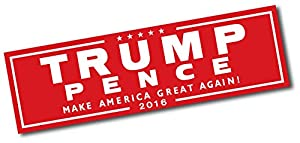 Trump Pence Official Red; Bumper Sticker