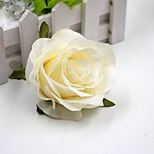 Flower Heads in Bulk Wholesale for Crafts Silk Fake Flower Head Artificial Flowers Blooming Roses Wedding Party Home Decoration DIY Festival Shoes Dress Decor 5pcs/lot 8cm 5