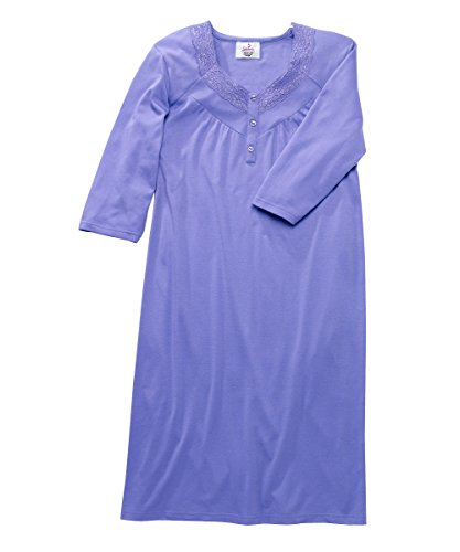 Womens Open Back Knit Nightgown with Diamond Neck and Soft - Deep Mauve MED