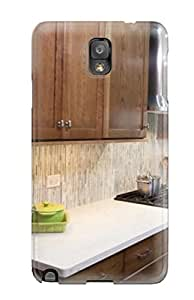 Galaxy Note 3 White Countertops In Traditional Kitchen Print High Quality Tpu Gel Frame Case Cover