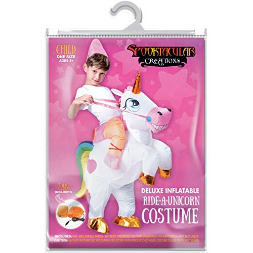 Spooktacular Creations Inflatable Riding a Unicorn Air Blow-up Deluxe Costume - Child One Size Fits 4-8yr (40''-52'' Height) by Spooktacular Creations (Image #6)