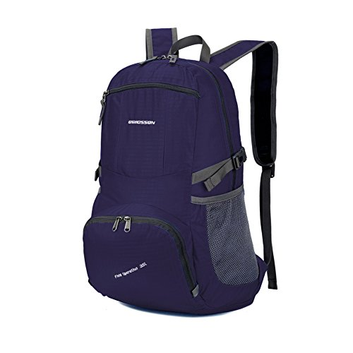ORICSSON 35L Hiking Lightweight Foldable Water Resistant Backpack Daypack Purple