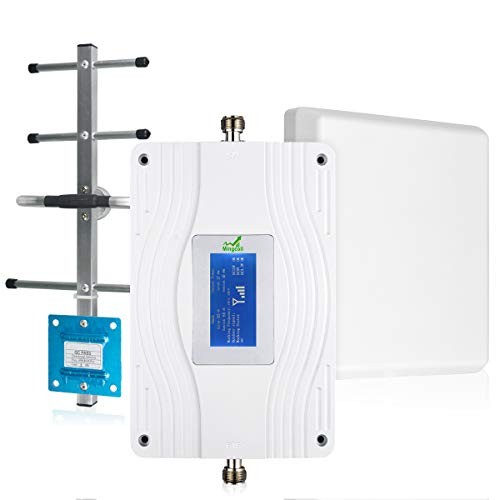AT&T T-Mobile Cell Phone Signal Booster Mingcoll 700MHz Band 12/17 Signal Amplifier Booster 4G LTE ATT Mobile Signal Repeater Cellular Boosetr fo日Home with LCD Display (SWA70-77T)