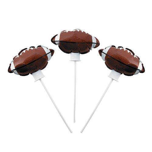 Football Self-Inflating Mylar Balloons - 1 Dozen ()