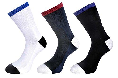 Naviya Men's Ankle Length Socks Combo (Terry premium socks) (Extra Cusion on bottom of socks)