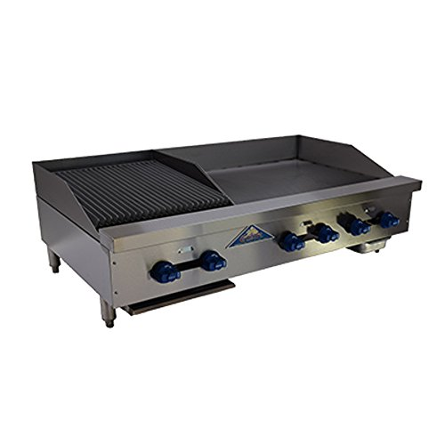 (Comstock Castle FHP48-30-1.5RB Gas Radiant Char Broiler & Griddle Combo Unit)