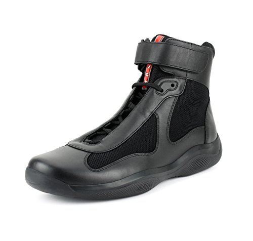 Prada Men's America's Cup High Top Sneaker, Black (Nero) (10.5 US/9.5 - Cup America Prada