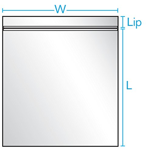 13'' x 15'' x 2 mil Clear Plastic Reclosable Bags with Zip Top (Case of 1,000) by Smart Tech Plastic Bags (Image #1)