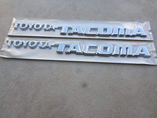 95-04 Set of 2 New Toyota Tacoma Side Door Fender Emblem 75473-04010 Logo Nameplate Badge Ornament Set of 2 - Decal Ornament