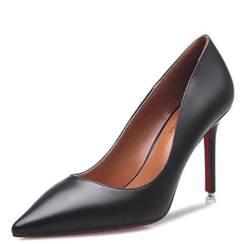 Aiguilles Bout Femme Escarpin Pompes Résistante Soirée Talons Noir Pointu Antiglisse Chaussure Travail Mode 37 WvSEv