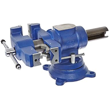 Yost Vises 750-DI 5  Heavy-Duty Multi-Jaw Rotating Combination Pipe and Bench Vise with 360-Degree Swivel Base and Head