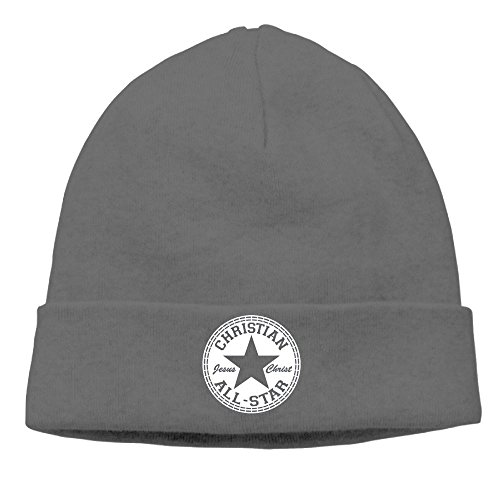 Fewgthter Unisex LSA Apparel - Christian All Star Striped Beanie Cap For Cancer Patients - Zeiss Apparel