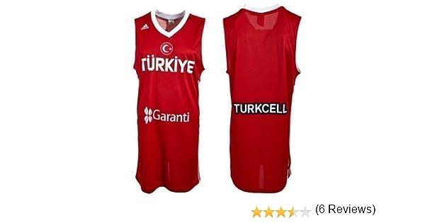 adidas Camiseta de baloncesto L02528 de la selección de Turquía, rojo, large: Amazon.es: Deportes y aire libre