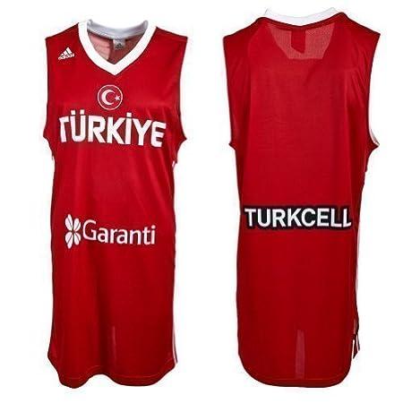 adidas Turquía Equipo Nacional l02528 Baloncesto Jersey, Rojo ...