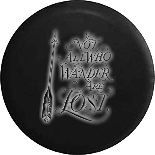 (White - Not Wander Lost Glowing Off Road RV Camper Spare Tire Cover Dealer Grade 32 in)