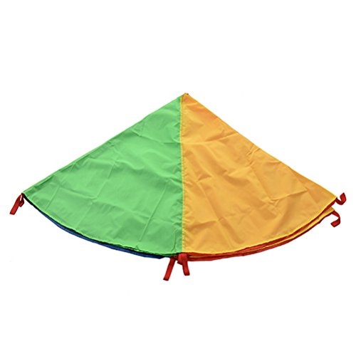 NUOBESTY Play Parachute Multicolored Children Team Work Educational Toy for Outdoor Games Sports Activities Cooperative Games by NUOBESTY (Image #2)