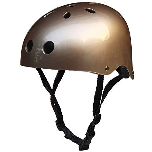 CZPF Road Bike Helmet One-Piece Men And Women Four Seasons Cycling Helmet Sports Outdoor Hard Hat Off-Road,Gold-M(54…