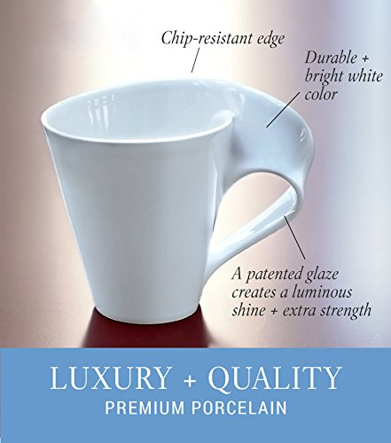 New Wave Caffe Coffee Mug Set of 6 by Villeroy & Boch - Premium Porcelain - Made in Germany - Dishwasher and Microwave Safe - Includes Mugs - 11 Ounce Capacity by Villeroy & Boch (Image #2)