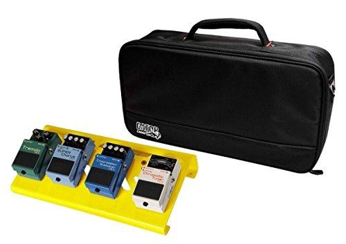Gator Small Aluminum Pedalboard w/ Carry Bag - Yellow