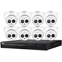 Dahua 8CH 6MP PoE Home Security Camera System, 6MP Outdoor PoE IP Cameras with Build in MIC, 4K 8-Channel NVR (NVR4208…