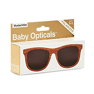 FCTRY - Baby Opticals, Wood Finish Polarized Sunglasses, Ages 0-2