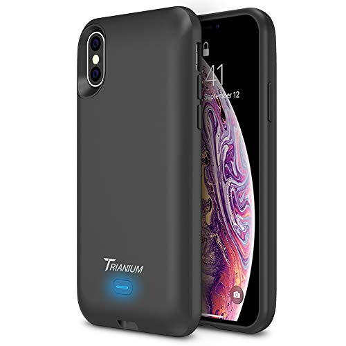 """Trianium Wireless Charge Battery Case Compatible with Apple iPhone Xs/iPhone X (5.8"""" Display) 3000mAh Rechargeable Juice Charging Power Extended Power Charger [Not Support Wireless Charging Pad]"""