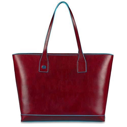 Piquadro Blue Square - Piquadro Blue Square Shopping bag in leather - BD3336B2 (Red)