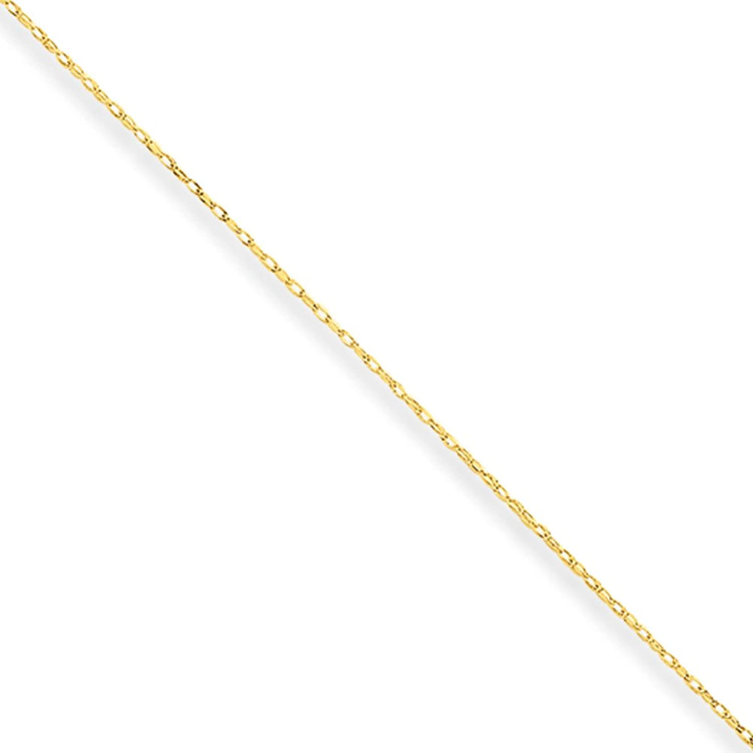 0.5mm, 14 Karat Yellow Gold, Cable Rope Chain - 24 inch