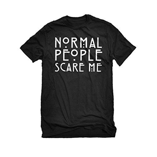 [Mens Normal People Scare Me T-Shirt Black Medium] (Costume De Marie 2016)