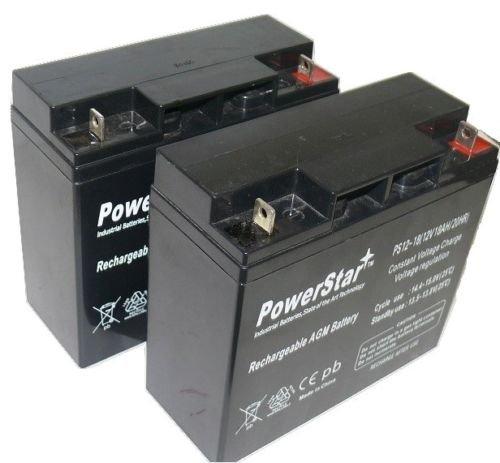 12V 18Ah UPS Battery Replaces Werker WKA12-18NB - 2 Pack by BatteryJack
