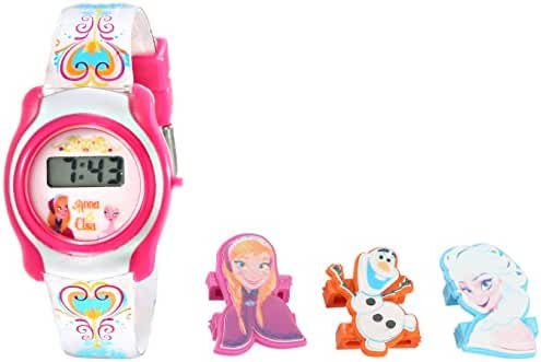 Disney Kids' FNFKD006 Frozen Watch with Interchangable Characters in a Gift Tin