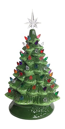 pinkada Lighted Tabletop Ceramic Tree with LED Bulb (Large 14.5)