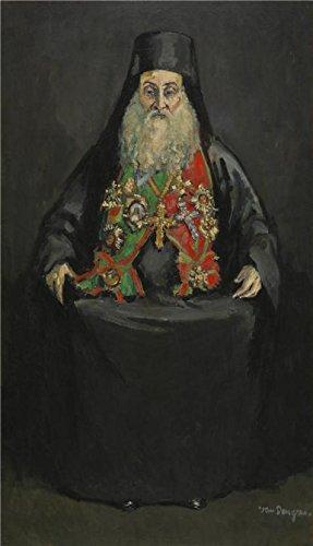 のポリエステルキャンバス地の油絵Kees van Dongen–Gerassimos Messarra、20世紀」、サイズ: 10x 17インチ/ 25x 44cm、この素晴らしいアート装飾プリントキャンバスは、フィットのキッチンギャラリーアートとホームデコレーションとギフトの商品画像