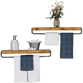 Amazon Com Del Hutson Designs Rustic Luxe Towel Holder Floating