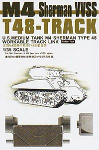 / Modellino a T per 48/ Sherman Tracks Articulated Unbekannt AFV Club 35038/