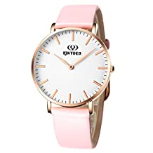 ORIGINAL QUARTZ PINK LEATHER BAND MEN'S WATCH