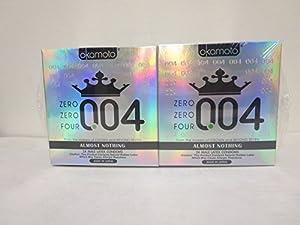 Okamoto 0.04 Zero Zero Four Condoms, 2 boxes (48 count)