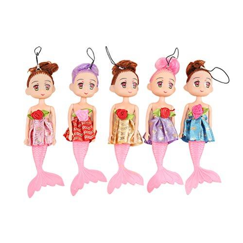 Toyvian 10pcs Sirena muñeca de Juguete Regalo de niña Encantadora Sirena niña niña niño cumpleaños Presente (Color y...