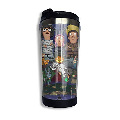Stainless Steel Insulated Tumbler for Beer & Cocktails, Full Bars Bobs Burgers Halloween Fanart Travel Coffee Mug, 14Oz, No-Spill Water Bottle for Sports Lunch ()