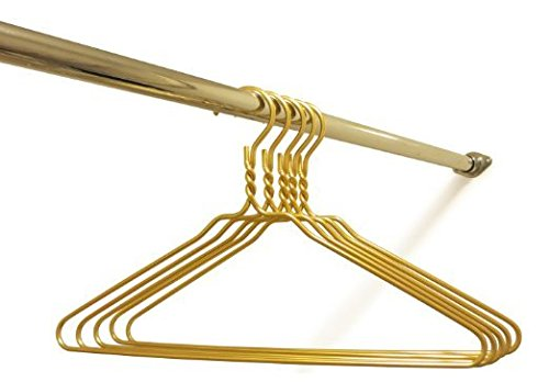 Beautiful Gold Aluminum Metal Coat Hangers Heavy Duty Suit Hangers (10 Pack)