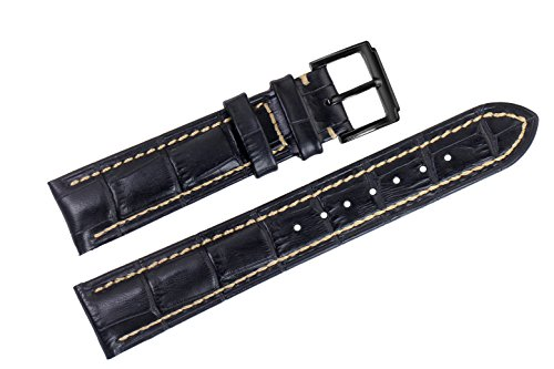 22mm-black-luxury-italian-leather-replacement-watch-straps-bands-handmade-white-stitched-for-top-gra